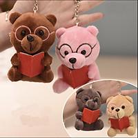 Gấu bông Gấu đeo kính đọc sách - 1 mẫu - màu ngẫu nhiên