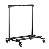 Flanger Universal Display Rack Detachable Portable Multi Guitars Stand 5 Holders with Wheels and None Slip Rubber - Black