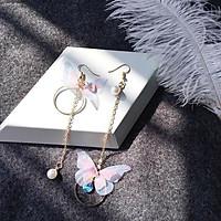 Bông tai dạng bất đối xứng hình bướm