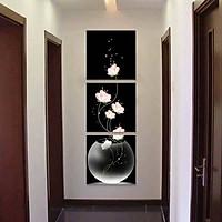 Tranh Canvas treo tường nghệ thuật | Tranh bộ nghệ thuật 3 bức | HLB_207