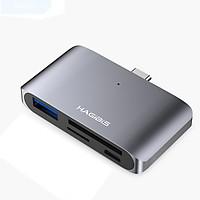 Cáp đa năng Hagibis Usb Type C To SD/TF Card/USB - Hàng chính hãng