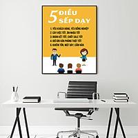 Tranh động lực 5 điều sếp dạy-Model: AZ1-0308
