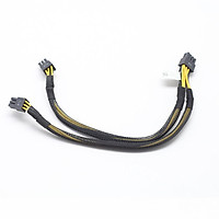 D92C9 FOR Dell PRECISION T3600 T3610 T5600 T5610 T5810 T7810 VGA workstation keyboard power cord 8PIN to dual 6PIN power cord