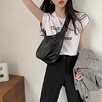 Túi IELGY đeo vai cỡ lớn kiểu bánh bao thời trang cho nữ