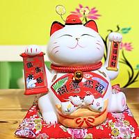 Mèo vẫy tay May Mắn Nhật Bản-Tài Lộc Tấn Tới Đội mũ quan 9002-24cm