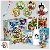 Hộp quà to One Piece: Stampede Đảo hải tặc có bookmark postcard huy hiệu ảnh dán ảnh thẻ poster tặng hình thiết kế Blue Vcone