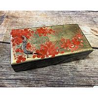 Hộp sơn mài họa tiết hoa đào