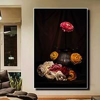 Tranh đơn canvas treo tường Decor Họa tiết hoa hồng sang trọng - DC212