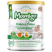 Sữa tiểu đường thảo dược Mamigo Diabetes Platinum 800gr giúp ổn định đường huyết, ngăn ngừa biến chứng tiểu đường