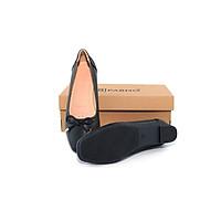 [Da thật 100%] Giày búp bê đế xuồng phối nơ siêu xinh thời trang PABNO PN19004