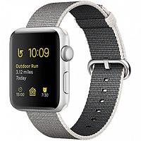 Dây đeo cho Apple Watch - Woven nylon - XÁM TRẮNG