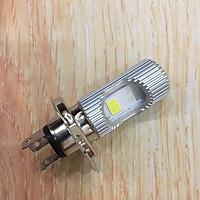 Đèn LED 2 tim (bản to) chân H4 loại thường tản nhiệt khung nhôm siêu sáng cho xe máy - A242