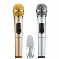 Micro Karaoke không dây hát trên ô tô Excelvan K18U, 02 mic, UHF (Vàng) - Hàng Chính Hãng