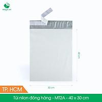 MT2A - 40x30 cm - 200 túi nilon 2 lớp đóng hàng thay thùng hộp carton