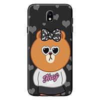 Ốp Lưng Dành Cho Samsung Galaxy J3 Pro/ J7 Pro - Mẫu Gấu Line Mặc Áo HUG