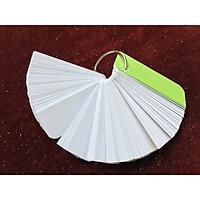 Bộ thẻ trắng 100 thẻ flashcard siêu dày3x8 định lượng ivory 350gsm//bristol 350gsm tặng kèm khoen 4cm và bìa ánh kim dùng để ghi chú, học từ vựng và các công thức cần ghi nhớ (giấy giao ngẫu nhiên ivory hoặc bristol)