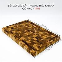 Thớt gỗ Teak đầu cây cao cấp KATANA cỡ nhỏ - KT01