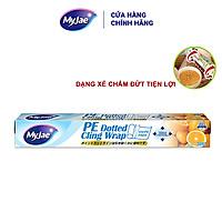 Màng bọc thực phẩm PE MyJae Đài  Loan 30cmx30m dạng xé chấm đứt bảo quản thực phẩm an toàn tiện lợi