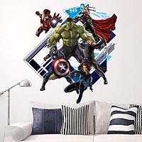 Decal dán tường siêu anh hùng 3D