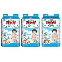 3 Gói Tã Dán Goo.n Premium Gói Cực Đại L50 (50 Miếng)
