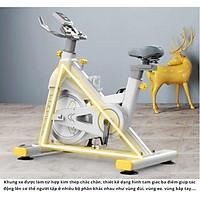 Xe đạp tập gym thể dục tại nhà SPORT FITNESS màu trắng xám kiểu dáng trẻ trung