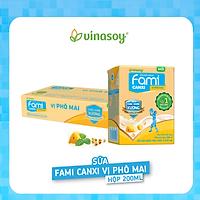 Thùng Sữa đậu nành Fami Canxi vị Phô Mai ( 200ml x 36 Hộp )