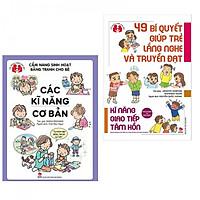 Combo sách kỹ năng hay cho bé : Cẩm nang sinh hoạt bằng tranh cho bé - các kỹ năng cơ bản + 49 bí quyết giúp trẻ lắng nghe và truyền đạt- kỹ năng giao tiếp tâm hồn - Tặng kèm bookmark Happy Life