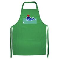 Tạp Dề Làm Bếp In Hình Cá voi yêu - DV003 – Màu Xanh