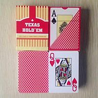 TEXAS HOLD'EM - Bài tú lơ khơ, bài nhựa Poker chống thấm nước 4 màu