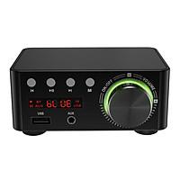 TPA3116 Digital 50Wx2 100W Bluetooth 5.0 Power Amplifier Hi-Fi Stereo 2.0 Channel Wireless TF USB