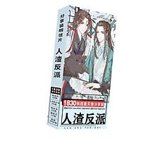 Postcard Hệ thống tự cứu của nhân vật phản diện hộp ảnh anime chibi