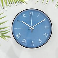 Đồng hồ treo tường trang trí MÀU XANH LA MÃ loại 30cm - Kính phẳng - Kim trôi