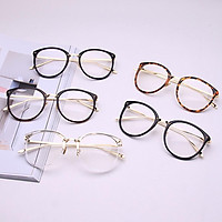 Fashion Men Women All-match Optical Transparent Glasses