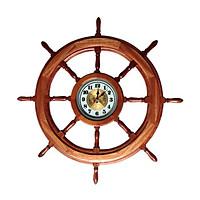 Vô lăng tàu gỗ trang trí Ø80cm (có đồng hồ)