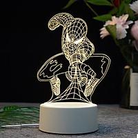 Đèn ngủ, đèn trang trí 3D, quà tặng độc đáo cho bạn bè và người thân - Hình siêu nhân nhện