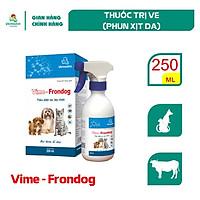 Vemedim Vime - Frondog, thuốc trị ve, rận cho chó, mèo, chai xịt 250ml