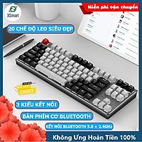 Bàn phím CƠ Bluetooth Không Dây Pin Sạc XSmart K950 LED đẹp, Trục blue switch cho pc laptop, điện thoại, máy tính bảng macbook iphone ipad hàng chính hãng