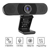 Webcam họp trực tuyến eMeet C980 Pro full HD 1080p kèm mic kèm loa - Hàng chính hãng