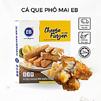CÁ QUE PHÔ MAI EB - 500g/ hộp/ 20 thanh - Thanh cá chiên Cheese Finger - Hàng đông lạnh nhập khẩu Malaysia