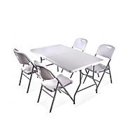 Bàn ghế xếp - bàn ghế nhựa xếp cao cấp BX01