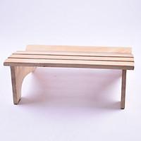 Ghế gỗ kê chân (màu đen)