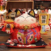 Mèo Thần tài Đỏ 23cm -