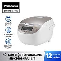 Nồi cơm điện Panasonic SR-CP108NRA 1Lit - Chế độ giữ ấm 12 tiếng - Công nghệ nấu Fuzzy điều chỉnh nhiệt độ theo từng loại gạo - Hàng Chính Hãng