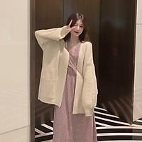 Áo khoác len nữ khí chất váy hoa retro