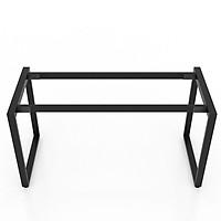 Chân bàn làm việc NVCN002 sắt hộp 25x50 lắp ráp kích thước 140 x 60 x 75 (cm)