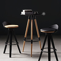 Ghế Cao Quầy Bar, Cafe BG0003 Chất Liệu Nhựa PP Đệm Bọc Da Mang Phong Cách Cổ Điển  (40 x 30 x 78cm)