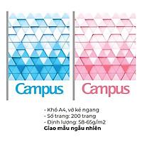 Vở Campus Kẻ Ngang/Kẻ Ngang Có Chấm Khổ A4 200 Trang