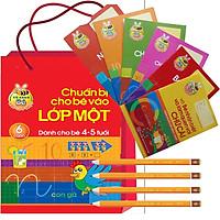 Sách - Tập Tô Tập Viết Chữ Cái Chữ Số Dành Cho Trẻ 4-5 Tuổi ( Túi Chuẩn bị Cho Bé Vào Lớp 1-6 Cuốn -Tặng 1 Cây Viết Chì)