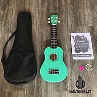 Đàn ukulele soprano tặng phụ kiện, màu xanh ngọc