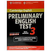 Cambridge Preliminary English Test 3 Student's Book with Answers Reprint Edition
